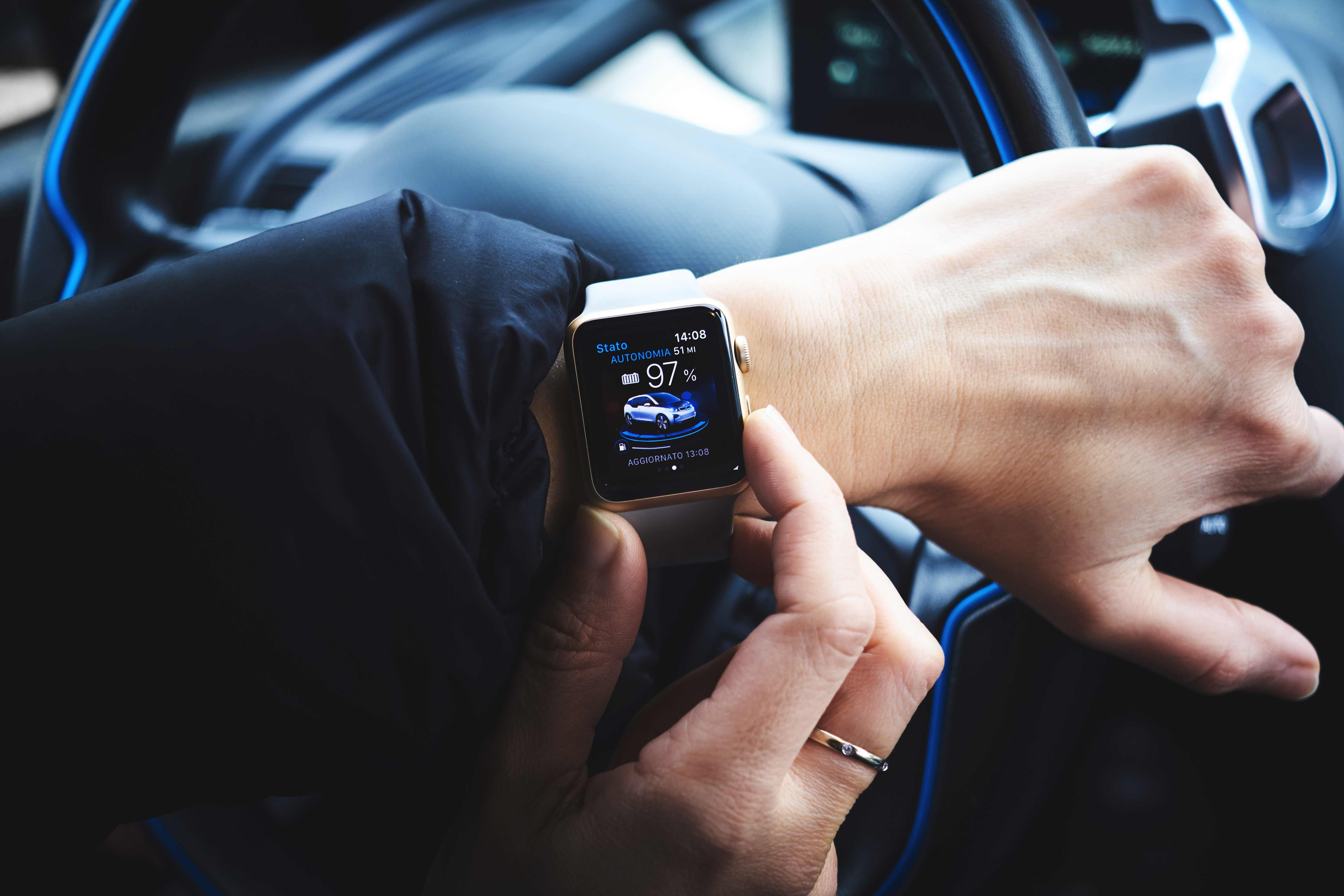 Driver with Apple Watch